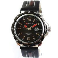 Hot Sale Fashion Casual Big Black Waterproof Sports Calendar Watches Men CURREN Free Shipping Rolland
