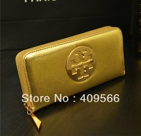 New arrival 2013 cross brief gold noble long design purses card holder wallet women's handbag small wallet cluth bag