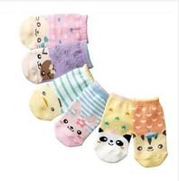 12pair/lot  Children's cartoon straight socks wholesale han edition animal model is the baby socks
