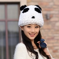 Parent-Child Cap! New Arrival!Free Shipping Otter Rabbit Hair Fur Hat Women'S Skullies Beanies 2013 Fashion Winter Panda Thicken