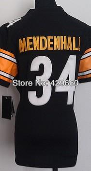 Fashion Brand #34 Mendenhall Women Jersey White/Black Rugby Football Jerseys American Game Lady's Jersey Size S M L XL XXL