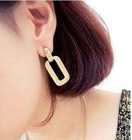 David jewelry wholesale E223  fashion all-match metal earrings women's drop earring earring gold women jewelry earrings