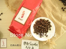 Free shiping coffee s s cafe brazil santos NO 2 roasted 227g Freash nut smooth