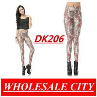 WHOLESALE Women Skeleton and Rose Leggings Printed Skinny Digital Printed Galaxy Super Elastic  MADE TO ORDER DK206