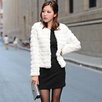 2013 female short design fur coat fur coat women