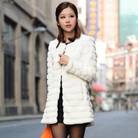 Fur medium-long wool fur coat outerwear women's