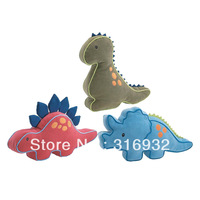J2 Child plush dinosaur toy birthday gift cloth doll pillow cushion  tyrannosaurus rex ,stegosaurus  triceratops