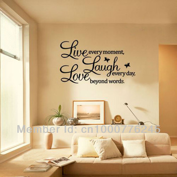 Living room wall decals quotes quotesgram for Living room quote stickers