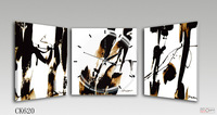 2.5 cm thick, 30X30 3sets Modern high quality wall clock with fashion PVC paper for exportation ck001/ck007/ck008/ck014