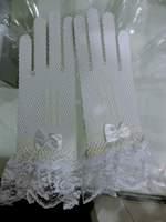 The bride wedding gloves lace gloves beige gloves gauze gloves raglan sleeve