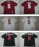 Wholesale-CHeapest 2013 Florida State Seminoles Jameis Winston #5 White Red Black College Jersey Mix Order