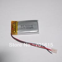 Wholesale Li-lon 3.7V 300mah Rechargeable Lithium Polymer Battery 502035,100pcs/lot