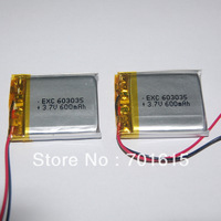 Wholesale 600mAH 6.0*30*35mm 3.7V li-polymer battery for for GPS ,portable power supply ,200pcs/lot