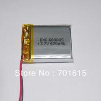 Wholesale 600mAH 6.0*30*35mm 3.7V li-polymer battery for for GPS ,portable power supply ,100pcs/lot