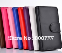Simple Leather Wallet Case for Samsung Galaxy S4 i9500 S3 i9300