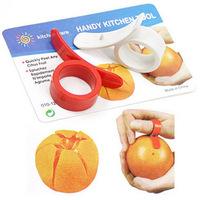 Min. order is $10(mix order) Fruit orange peel device finger ring orange peel device open orange device peeler 2