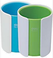 Deli stationery multifunctional two-color pen 9141 plastic circle fashion brief desktop storage box pen
