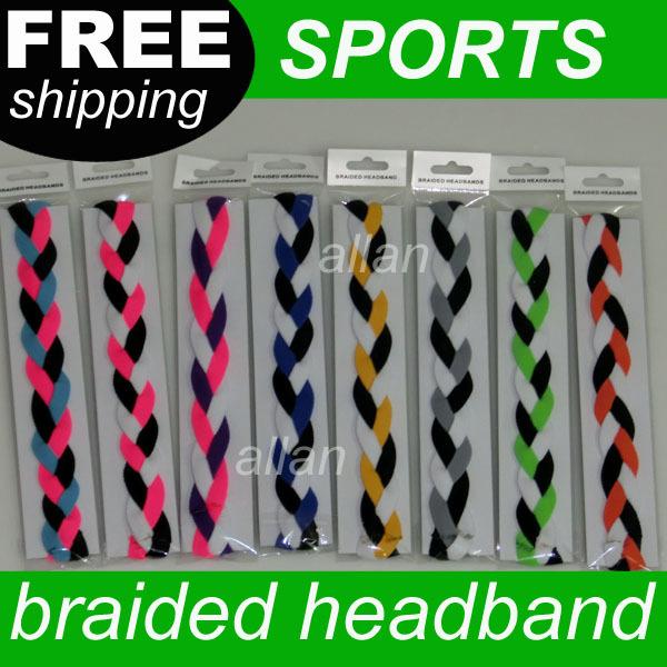 50pcs Stretch Headbands For Girls Plaited Stretch Headband sports braided headband(China (Mainland))