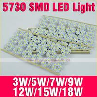 3W 5W 7W 9W 12W 15W 5730 SMD Lamp Light Energy Saving AC85-265 Warm White/ White LED Light Board For LED Bulb,Downlight