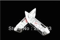 Hyundai Santa Fe  shark gills side door vent hood chrome wing stickers affixed generic models flanking