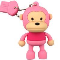 New Cartoon Pink Monkey usb 2.0 memory flash stick pen thumbdrive 2G 4G 8G 16G 32G