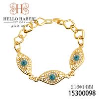 New arrivel fashion jewelry 18K gold plated charm evil eye women charm bracelet 2pcs/lot Free Shipping 15300098