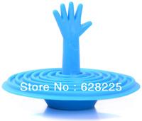Help! Help! Hand Palm Bathtub Stopper Creative Bathroom Product Water Plug Christmas Gift Free Shipping