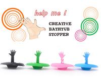 Free Shipping 2pcs Hand Palm Bathtub Stopper Creative Bathroom Product Water Plug Christmas Gift