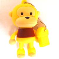 2GB 4GB 8GB 16GB 32GB Cute Monkey/Orange shape USB 2.0 memory stick Flash Drive