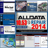 Free shipping 2014 Alldata 10.53+mitchell ondemand +esi+VIVID+med& heavy truck+manager+ATSG+elsa WIN+atris 27 in1 1000GB hdd