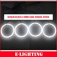 Error Free LED SMD Angel Eye Halo Light for BMW E30 E32 E34  Xenon White 3 5 7 series