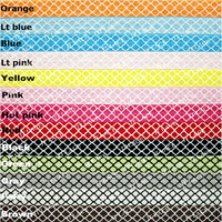 "HOT 5/8""  Quatrefoil Printed FOE 500yds (Clover FOE) --13 colors for selection--FREE DHL"