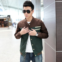 Boy casual men's clothing jacket autumn and winter coat slim stand collar male jacket