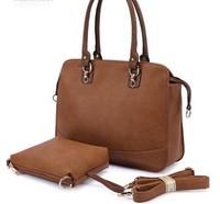 Paul 2013 new winter women's fashion Brand Design 2 PC/set PU leather shoulder Lash package handbag OL totes bag Freeshipping