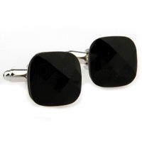 Romantic Black Square Cufflinks AT1284 - guaranteed high quality