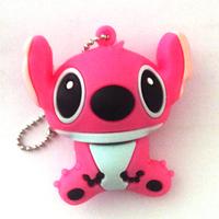 New Cartoon Pink stitch gift model usb 2.0 memory flash stick pen drive 2G/4G/8G/16G/32G