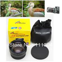 2X 58mm Professional Telephoto Lens +lens bag for Canon 350D 400D 450D 500D 1000D 550D 600D 1100D (Black)