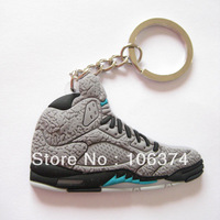 PVC Sneaker Key Ring Mini Shoes 3 lab 5 elephant  2D Flatback Keychain New Color (10pcs/lot)