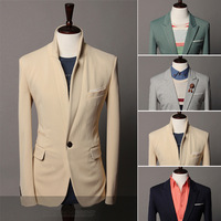 Drop Shipping Support 2013 black blazers fashion slim fit blazer men suit fashion, M-XXL,SU2035
