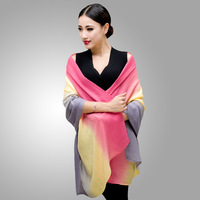Women's three-color scarf cashmere scarf cashmere cape dual thickening muffler scarf