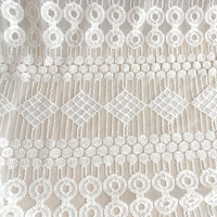 Lace cloth geometric figure table cloth fabric curtain diy handmade cotton lace