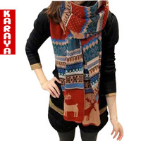 Karaya2013 autumn and winter thickening women's ultra long double faced yarn onta scarf