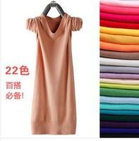 2013 NEW long sweater women designer plus size dress style Autumn and winter fashion coat korean crew neck bottoming shirt Slim