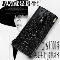 women's genuine leather crocodile embossed wallets fashion leather handbags 14 coloures purses mujer cartera bolsa free shipping