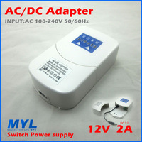 AC 100-240V to DC 12V 2A Plug AC/DC Power adapter charger Power Supply Adapter Waterproof for Led Strips Lights