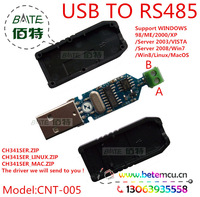 Free Shipping 1PCS USB 2.0  to RS485  Serial Converter Adapter  CH340G+MAX485 or SN75176  CNT-005