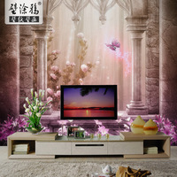 Btuya mural tv background wallpaper fashion 3d non-woven wallpaper