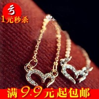 Free Shipping A-0464 small accessories love necklace female wishing necklace