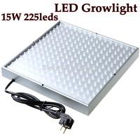 2014 15w 225leds Ac85-265v Eu Plug Led Grow Light Lamp for Plants Flower/greenhouse Growlight/ Hydroponic System Free Shipping