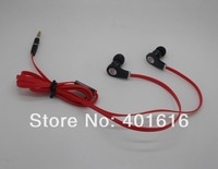 freeshipping  red white black purple colour  Best In ear 3.5mm earphone headset headphone with Case